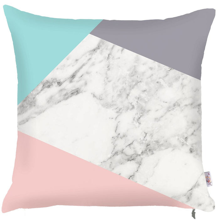 Scandi Square Solid Colors Decorative Throw Pillow Cover Home Decor Pillowcase 18''x18''