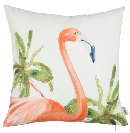 "Tropical Square Flamingo  Printed Decorative Throw Pillow Cover Home Decor 18 ""x 18"""