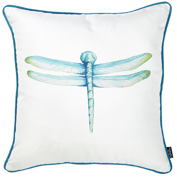 Watercolor Dragonfly Printed Decorative Throw Pillow Cover Home Decor 18''x 18''