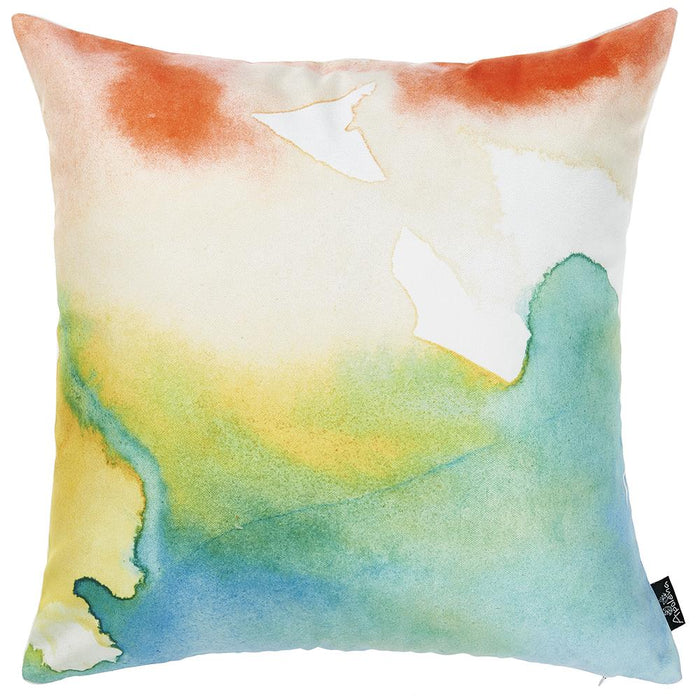 Watercolor Sunset Dream  Printed Decorative Throw Pillow Cover Home Decor 18''x 18''
