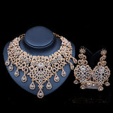 Parure bijoux femme Nigerian India necklace and earrings for party jewelry
