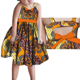 2020 African Clothing, Kids Dashiki Traditional Cotton Dresses, Matching Africa Print Dresses for Children 1