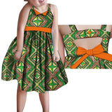 2020 African Clothing, Kids Dashiki Traditional Cotton Dresses, Matching Africa Print Dresses for Children