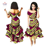 African Wax Print Dresses For Women, Bazin Riche Cotton Party Dress, Dashiki Sexy African Fashion Clothing 1