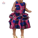 Summer African Clothing For Children, O-neck African Clothing Traditional Girl Print Cotton Dress 1