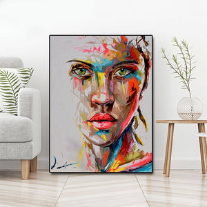 Oil Painting Modern Big Size Canvas Wall Art Printed Canvas Posters Prints