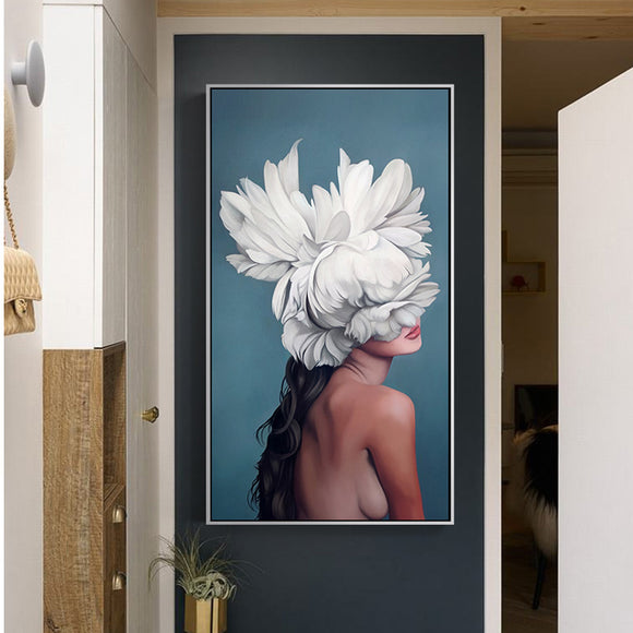 Abstract Sexy Flower Fairy Canvas Painting Modern Wall Art Pictures For Living Room