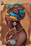 African Woman Canvas painting Wall Art Prints Black Woman On canvas home decor Wall Pictures for Living Room