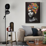 African Woman Wall Art Canvas Prints Modern Pop Art Canvas Paintings Prints