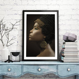 Ancient Egypt Queen Poster Black Women Canvas Painting African Woman Wall Picture Art