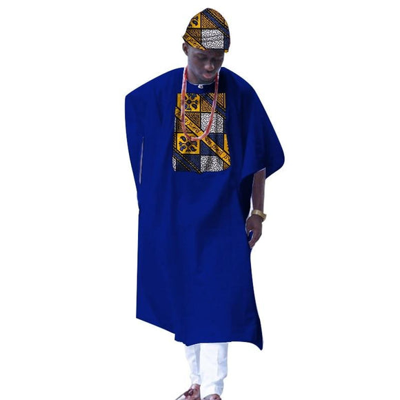 African Clothes for Men, Dashiki Print Tailored Long Men's Loose Plus Robe, Traditional African Clothing 1