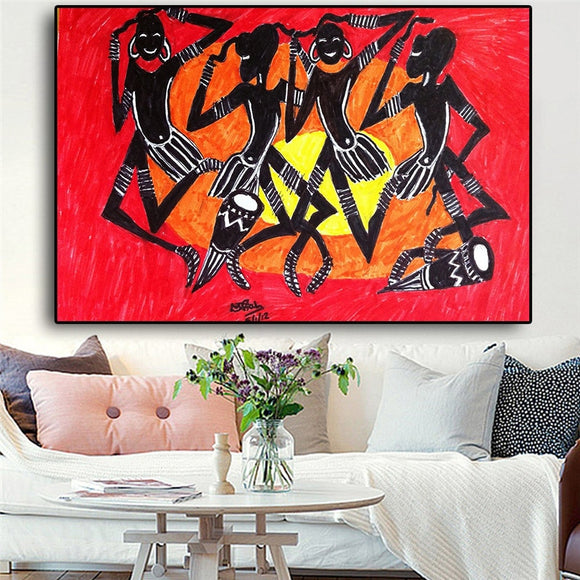 Abstract African American Portrait Painting Sunshine Prints Canvas Art