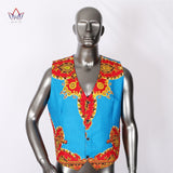 African Clothes, Men's Printed Blazer Jacket + Vest, Fashion Slim Suits Dashiki Men 1