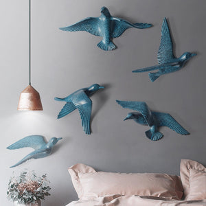 Creative 3D Resin Dove Home decor wall stickers