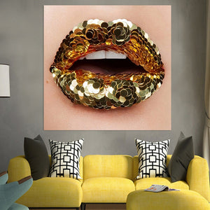 Canvas HD Painting Blink Mouth Pictures Beauty Makeup Posters And Prints Home Decor