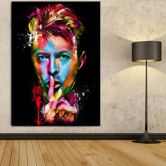 1 Piece Famous Singer Painting David Bowie Canvas Art Poster Prints For Living Room And Bedroom Decoration