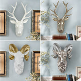 European Creative Living room Animal Head Mural, Wall Decor