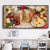 Food Bread Canvas Art Scandinavian Painting Posters and Prints Wall Picture For Dinning Room