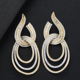 Luxury Water Drop Long Dangle Earrings For Women