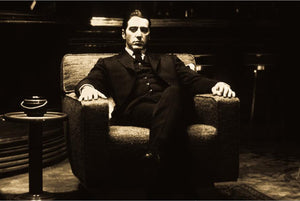 Godfather AL PACINO Vintage Moive Wall Posters And Prints Black And White For Living room