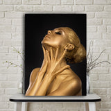 Gold Black Nude African Art Woman Oil Painting on Canvas Posters and Prints Scandinavian Wall Picture