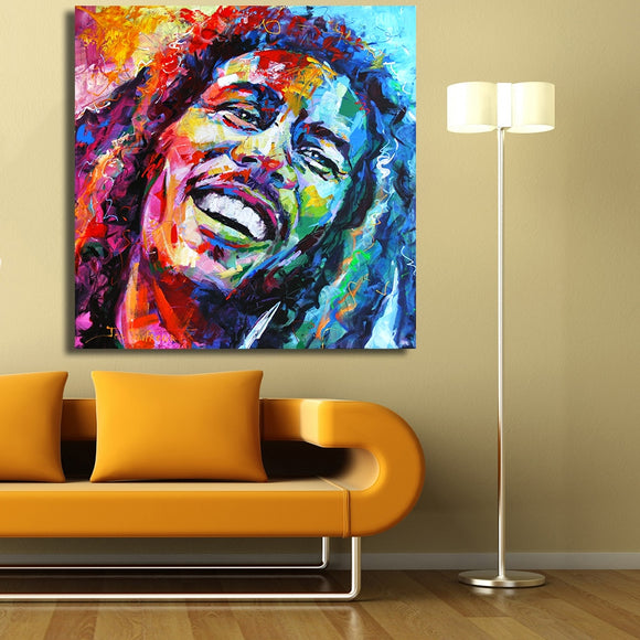 Bob Marley Portrait Oil Painting Acrylic on Canvas Art Prints for Living Room