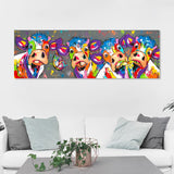 Wall Art Canvas Painting Animal Picture Poster Prints Cow Painting Home Decor No Frame