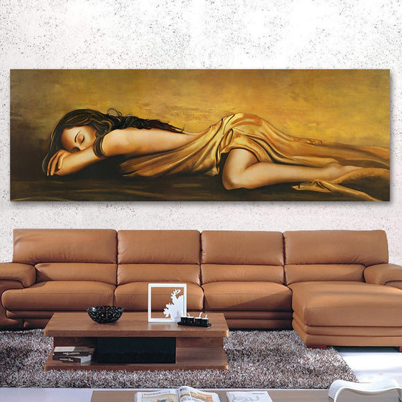 The Sleeping Woman Pictures For Living Room Home Decor Figure Painting No Frame