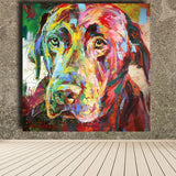 High quality Picture Black Labrador Oil Painting Acrylic on Canvas Art Prints for Living Room