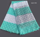 green white soft African cord lace fabric Nigerian Garment cloth High quality