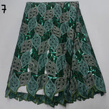 5 yards High quality hand cut African lace fabric with sequins and stones
