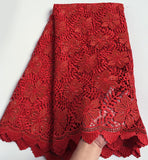 5 yards embroidered Guipure lace, soft African cord lace fabric Nigerian Garment cloth High quality