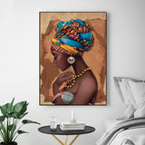 Painting No Frame African Wall Art Single Paintings For Living Room Wall Canvas