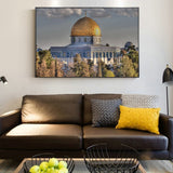 Masjid Al Aqsa And Dome Of The Rock Wall Art Posters Realist Mosque Canvas Art Prints For Living Room
