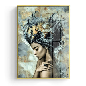 Modern Marble Girl Posters and Prints Wall Art Canvas Painting Nordic Picture Home Decoration for Living Room Decorative