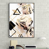 Modern Minimalistic Geometric Pattern Letter Cuadros Art Poster N Print Wall Picture For Living Room