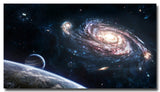 Milky Way Galaxy Space Stars Nebula Art Silk Poster Print Pictures