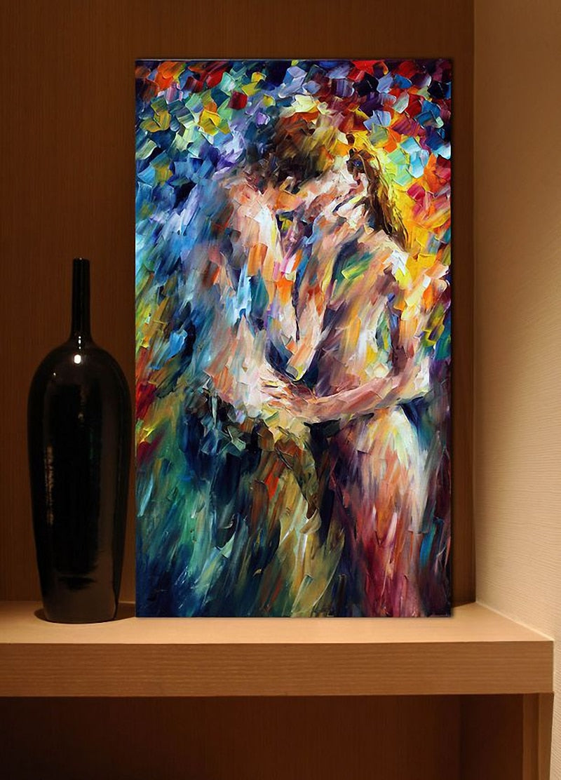 Nude Couple Kiss Picture Canvas Print Oil Painting For Bedroom And Liv Faberge Galore