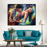 Oil Painting Prints On Canvas Explosion Of Love Body Art Modern Picture for bedroom