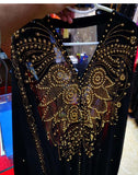 Plus Size African Dresses for Women Dashiki Diamond Beads African Clothes Abaya