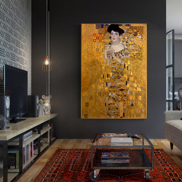 Portrait Of Adele Bloch Canvas Paintings Reproductions Canvas Prints For Living Room