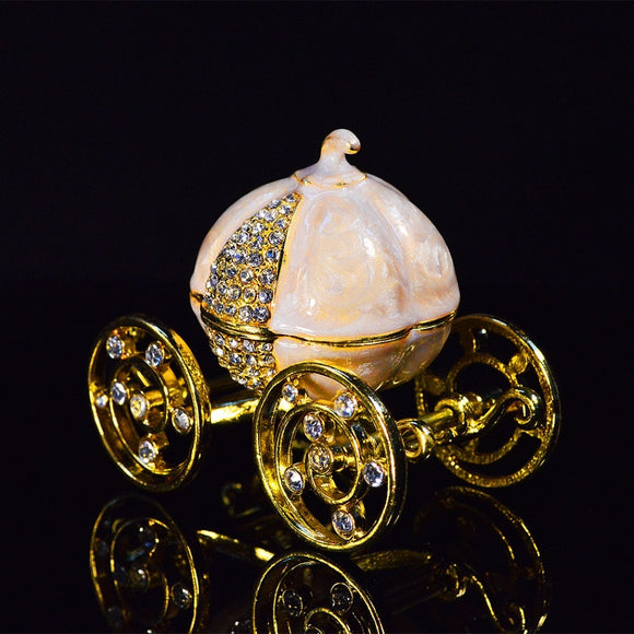 Pumpkin carriage jewelry boxes/ trinket box
