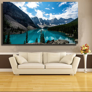 Picture Wall Art Lake Louise Canada Landscape Wall Pictures for Living Room Bedroom Home Decor Posters and Prints