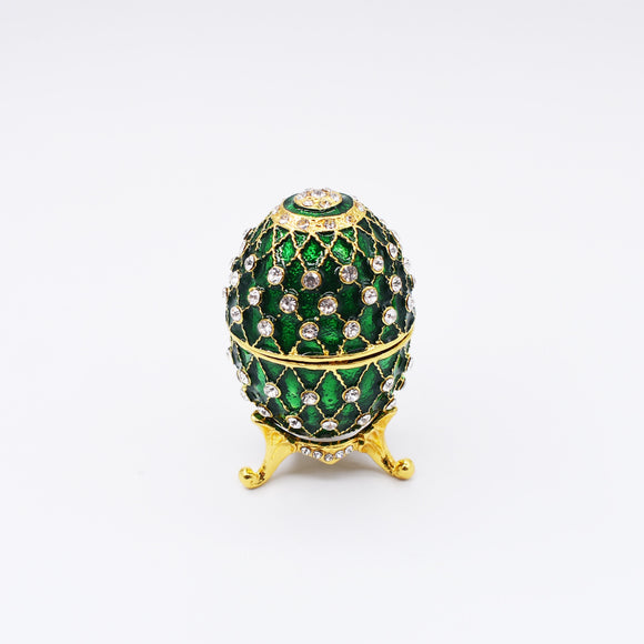 Russia Eggs Figurine Jewelry Trinket Box Souvenir Easter Jeweled Gift Box Collectible Gifts
