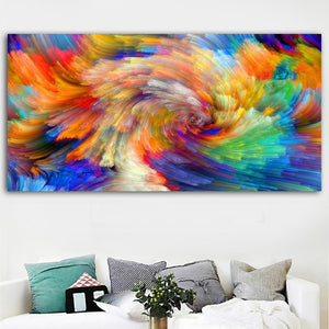 Rainbow pattern color splash oil painting on Canvas wall painting picture for Living Room