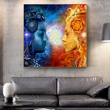 Tantra Shiva And Shakti Wall Posters Modern Hindu Gods Pop Art Canvas Prints