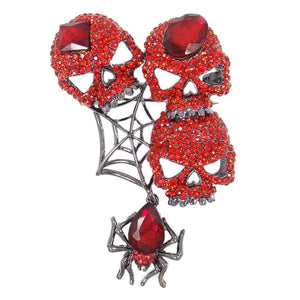 Skull Spider Brooches Animal Brooch Pin Austrian Crystal Brooch Party Women Jewelry