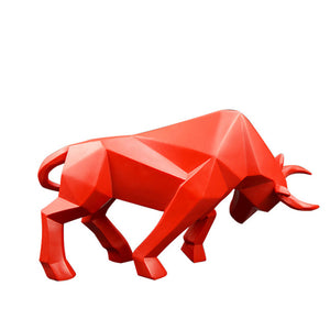 Resin Bull Statue Bison/Ox Sculpture, Home Decoration Modern Nordic home decor Statues