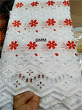 Swiss voile lace fabric tissu Africain broderie coton lace dubai fabric for wedding dress 5yard/lot