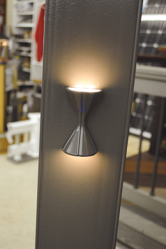 Endurance Hourglass LED Rail Light by Highpoint Deck Lighting Black